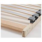 IKEA MALM Кровать высокая, 4 ящика, белый стаинедед дубовый шпон, (891.751.62), фото 9
