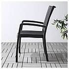 IKEA INNAMO Садовый стул с подлокотниками, темно-серый  (103.124.21), фото 2