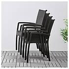 IKEA INNAMO Садовый стул с подлокотниками, темно-серый  (103.124.21), фото 3