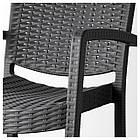 IKEA INNAMO Садовый стул с подлокотниками, темно-серый  (103.124.21), фото 4