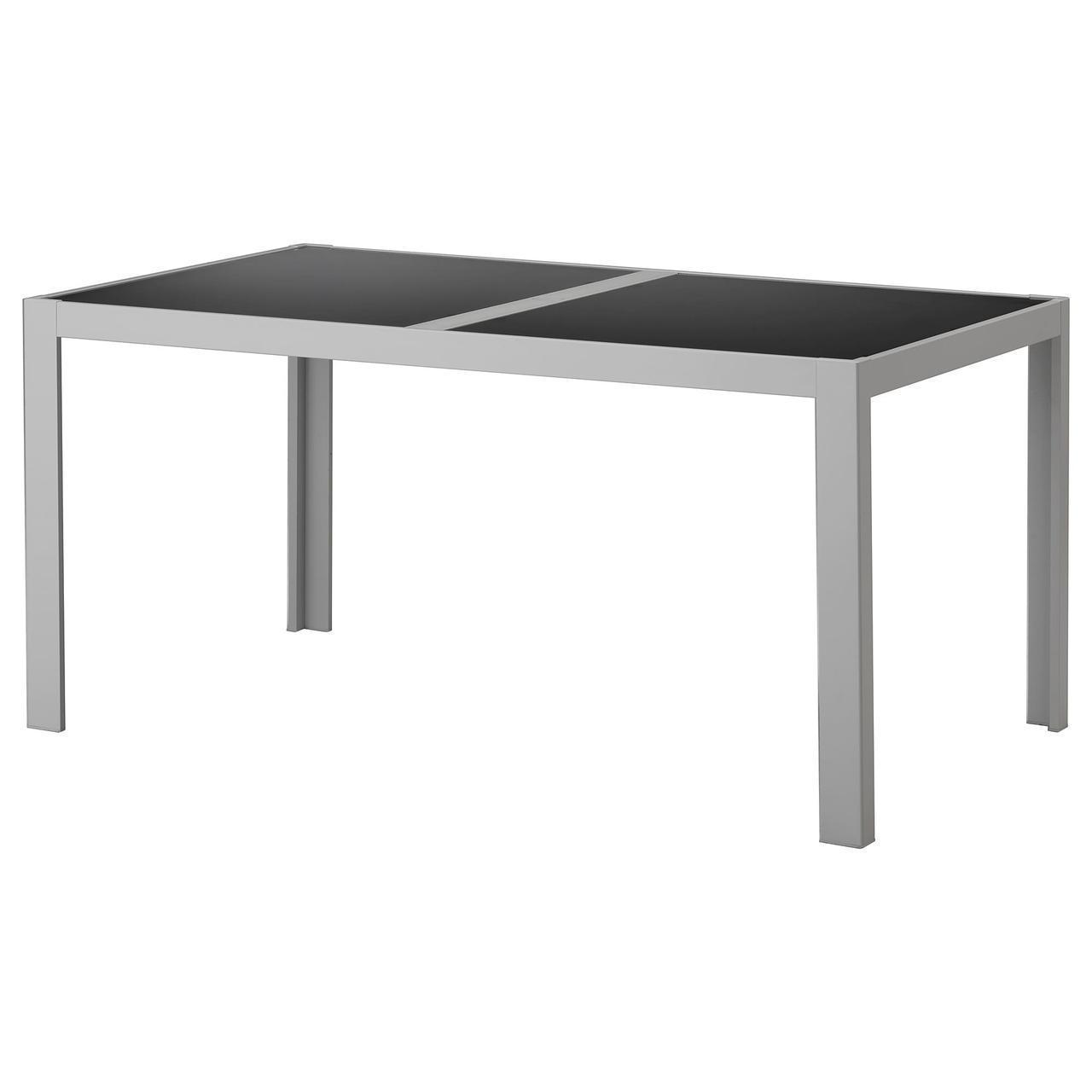 IKEA SJALLAND Садовый стол, стеклянный серый, светло-серый  (792.648.75)