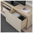 IKEA BESTA Тумба под телевизор с ящиками, белый дуб, Сельсвикен/Сталларп (792.675.91), фото 3