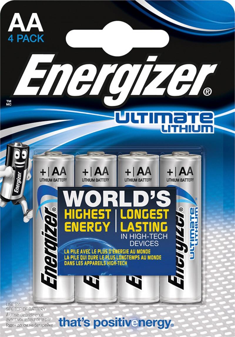 Батарейка Energizer Ultimate Lithium AA 4 шт (7638900262643)