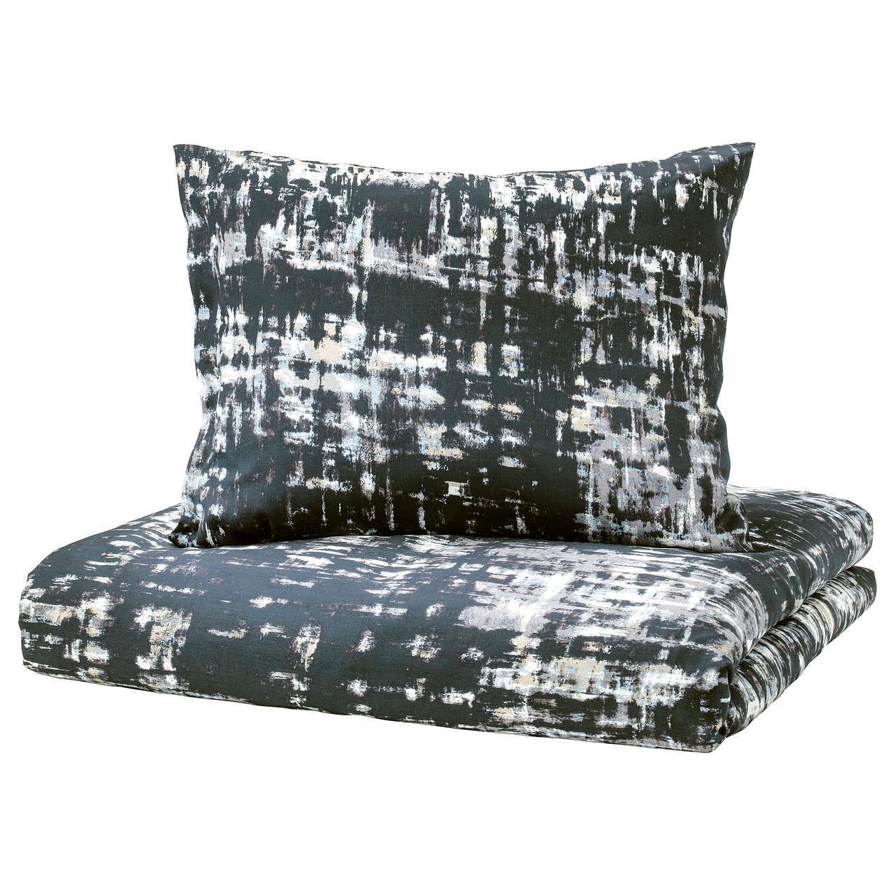 IKEA SKOGSLONN Комплект постельного белья, черный, разноцветный  (103.375.20)