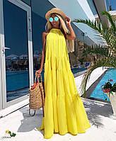 Женское яркое длинное платье в расцветках. РА-2-0619