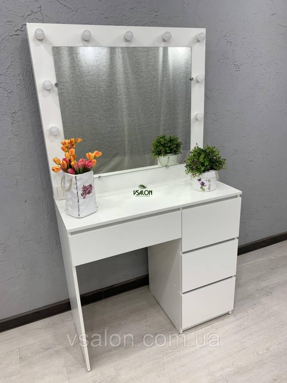 Стол для нанесения макияжа с LED лампами V456