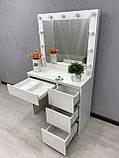 Стол для нанесения макияжа с LED лампами V456, фото 4