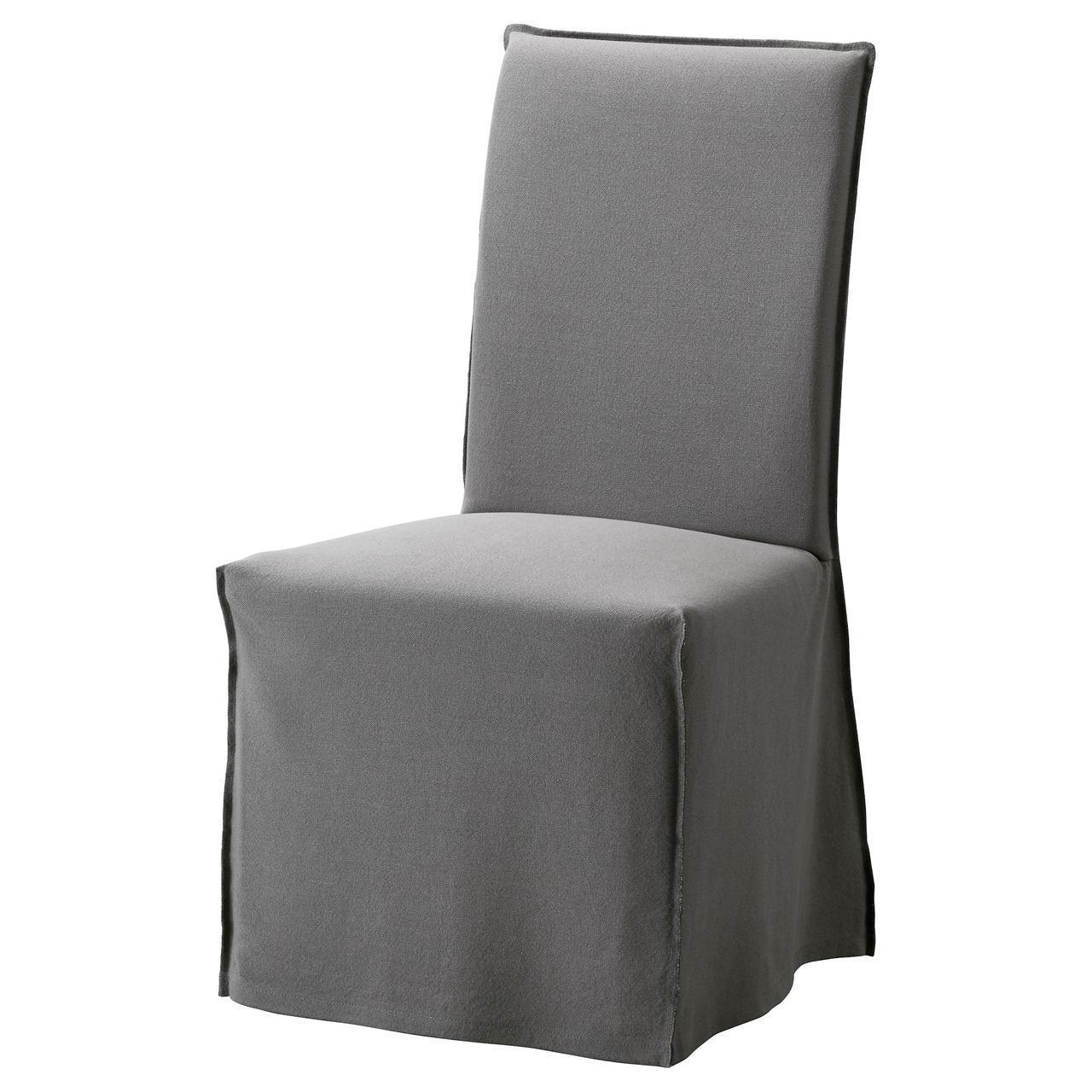 IKEA HENRIKSDAL Чехол для сиденья стула, длинная, Рисан серый  (503.016.37)