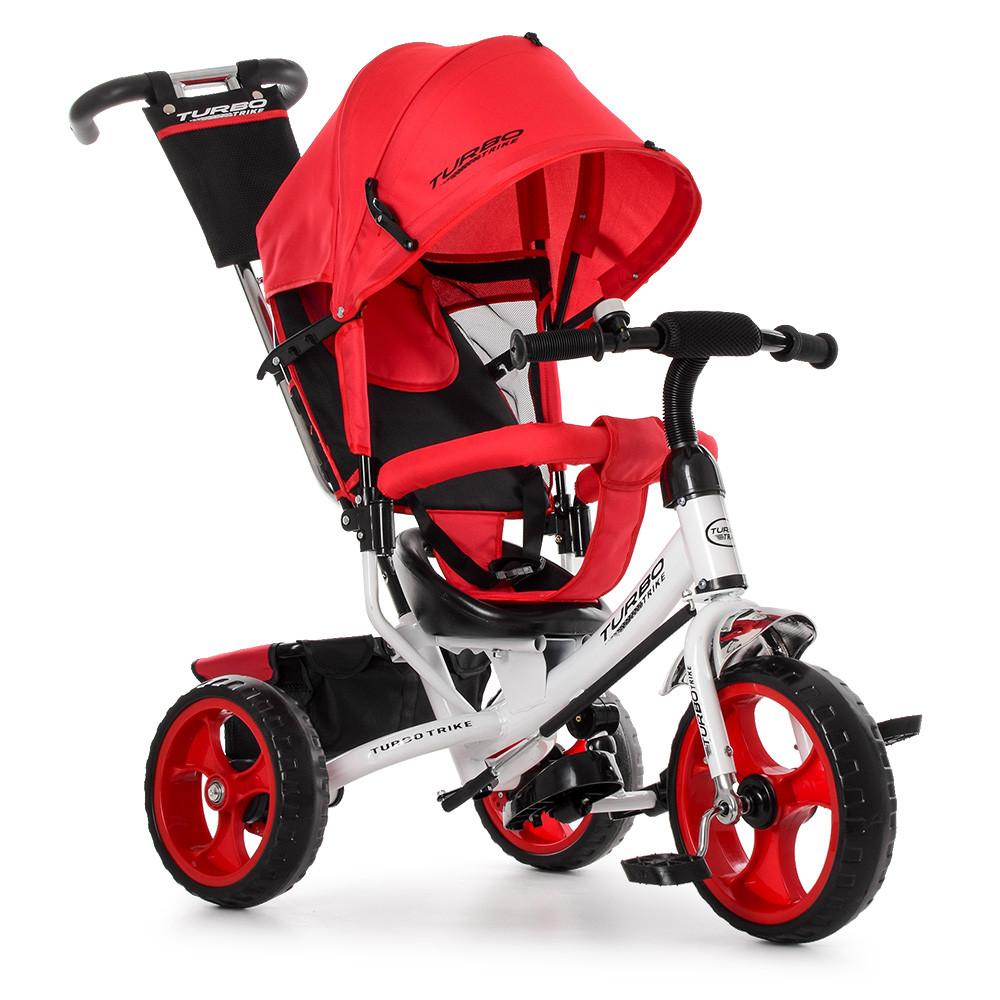 Трехколесный велосипед колясочного типа на EVA колесах (диаметр 11/9), Turbotrike M 3113-3 красный