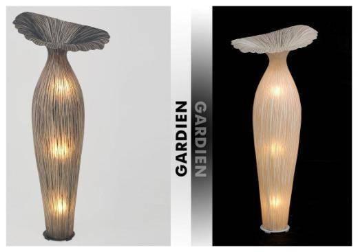 Декоративный напольный светильник в бионическом стиле из стекловолокна