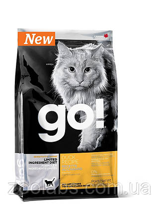 Корм Go! для кошек и котят с уткой | Go Natural Holistic Sensitivity Shine Grain Free Duck Cat 7,26 кг, фото 2