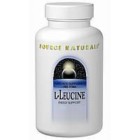 L-лейцин (L-Leucine)  Source Naturals 500 мг 240 капсул