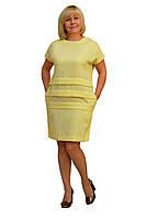 Платье бежевое —  Модель Л170 (50,54,56р) (к)