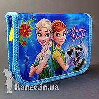 Пенал школьный на два клапана Anna&Elsa 930441