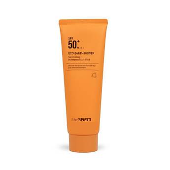Солнцезащитный крем для лица и тела The Saem Eco Earth Power Face & Body Waterproof Sun Block SPF50+ PA+++