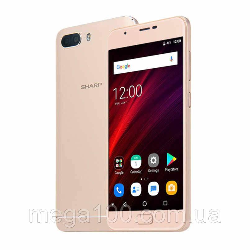 Смартфон Sharp R1S золотой цвет 4G (экран 5,5 дюймов; памяти 3/32, акб 5000 мАч)