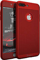 Чехол Ipaky 360 Mesh PC Heat Dissipation 3в1 для iPhone 7 Plus Red (CaseNS1)
