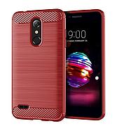 Чехол силиконовый TPU на LG K10 2017 / M250 красный