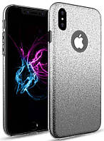 Чехол TOTO TPU Case Rose series Gradient 3 IN 1 iPhone X Black (XBl3IN1)