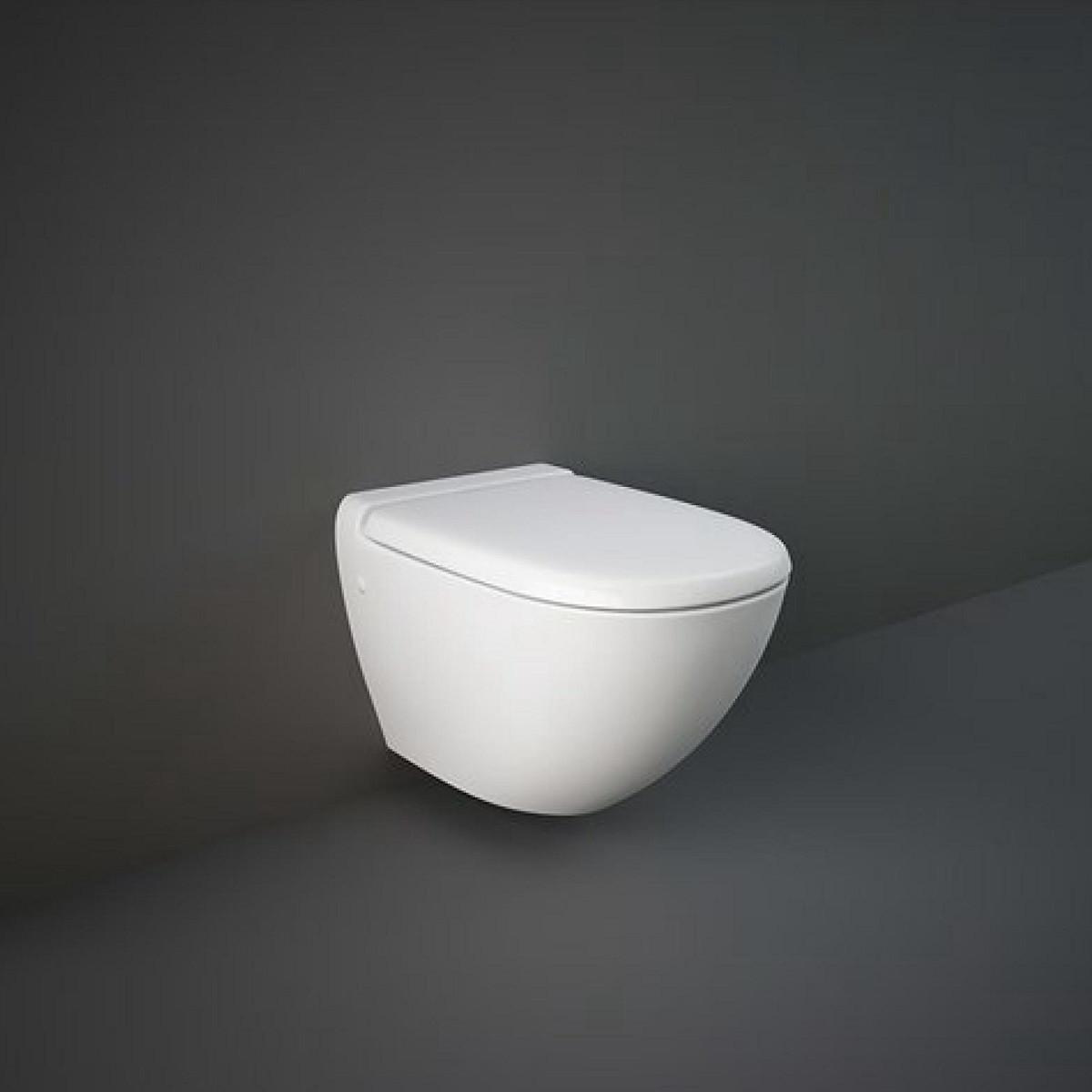 Унитаз безободковый подвесной с сиденьем Soft Close RAK Ceramics Reserva
