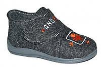 Детские летние туфельки для мальчика на липучке (Чёрные Android)