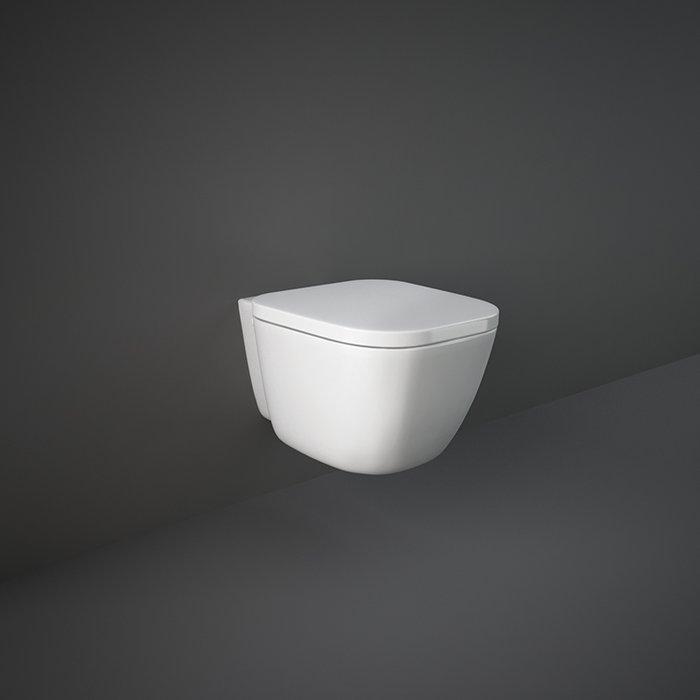 Унитаз безободковый подвесной с сиденьем Soft Close RAK Ceramics One