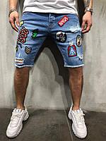Мужские модные джинсовые шорты Feel&Fly Denim Dark Blue