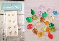 Молд Кристаллы, драгоценные камни, для мастики и изомальта