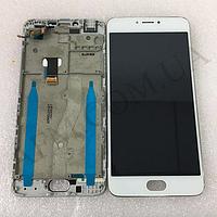 Дисплей (LCD) Meizu M3 Note с сенсором белый (ВЕРСИЯ L681h) + рамка