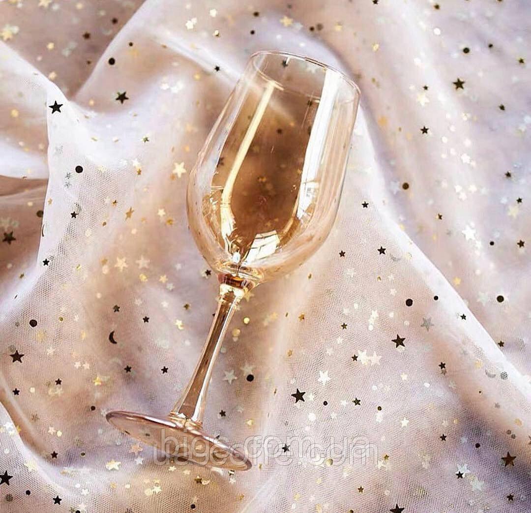 Бокалы для вина 6 шт 500 мл золото Живая вода ( набор бокалов )
