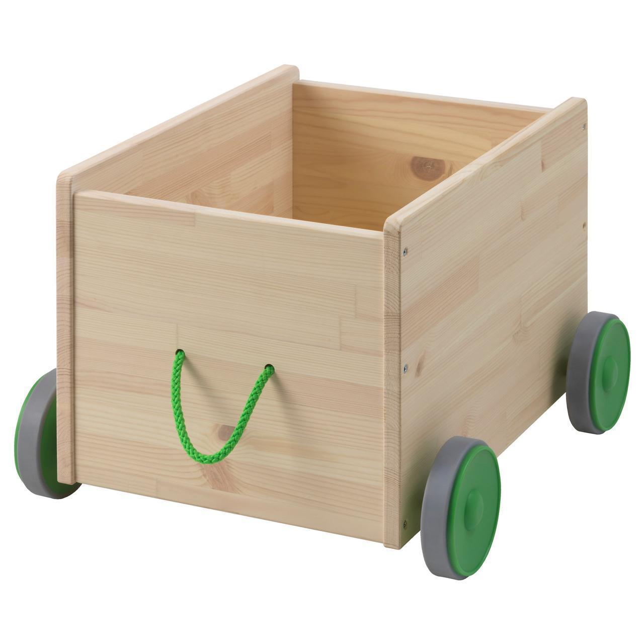 IKEA FLISAT Ящик для хранения игрушек на колесах  (102.984.20)