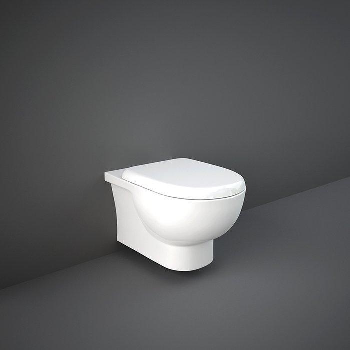 Унитаз безободковый подвесной с сиденьем Soft Close RAK Ceramics Tonique