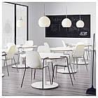 IKEA LEIFARNE Стул с подлокотниками, белый, Дитмар хром  (391.278.09), фото 5