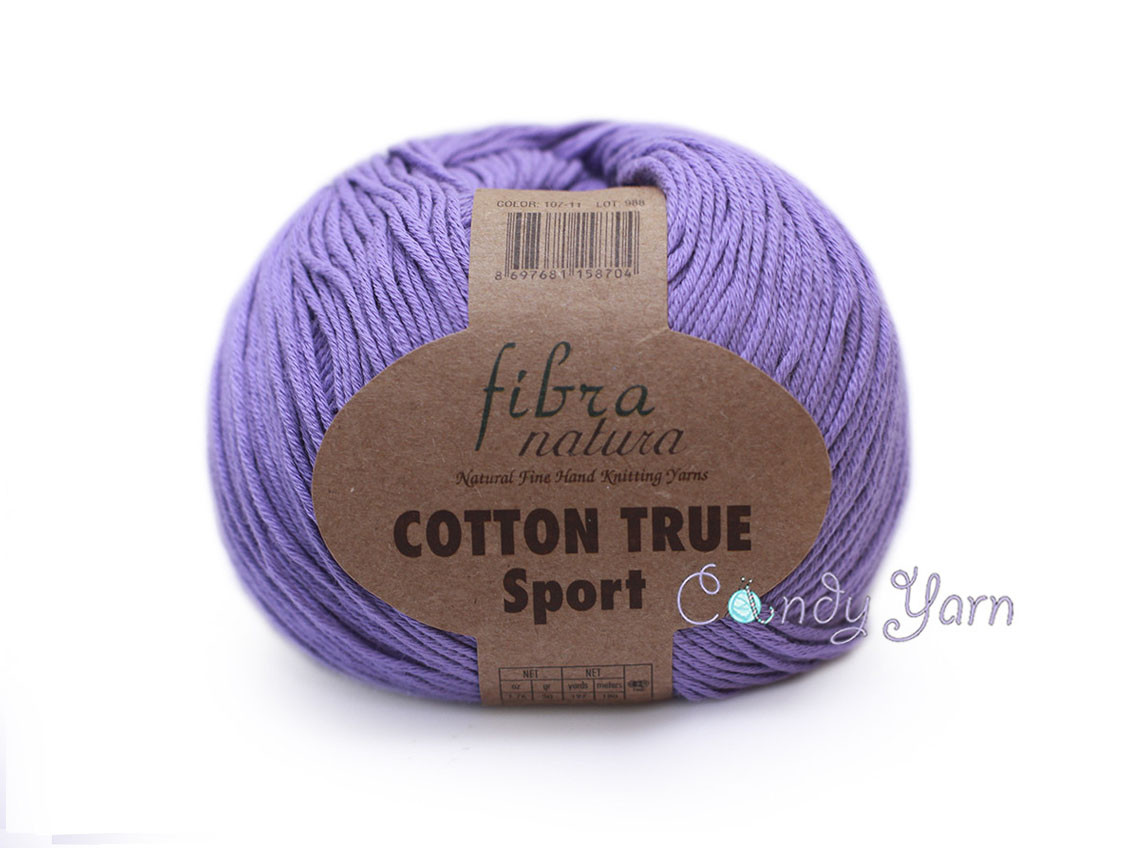 Хлопок Пима FibraNatura Cotton True Sport, Сирень №107-11
