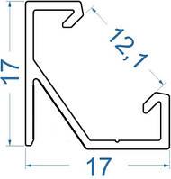 Алюминиевый профиль светодиодный алюминиевый профиль угловой 17х17