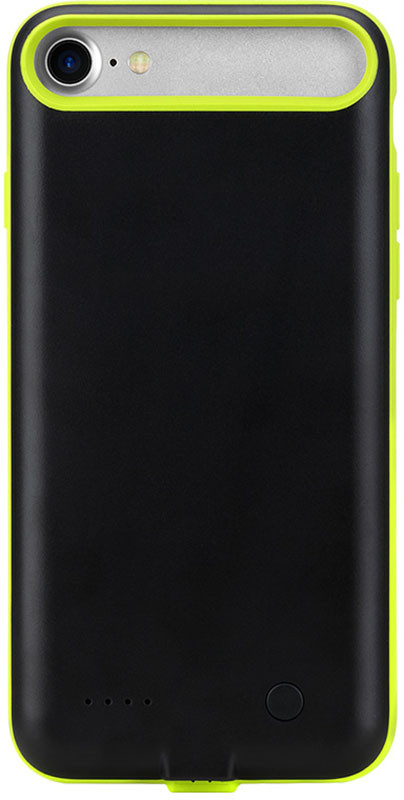 Чехол-аккумулятор Rock P8 power 2000 mAh для Apple iPhone 7 Black-green (RMP0326)