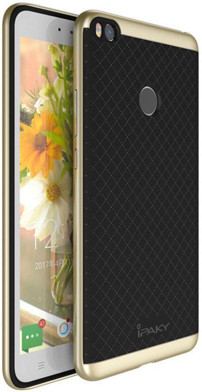 Чехол Ipaky TPU+PC для Xiaomi Mi Max 2 Gold (Glvss33)