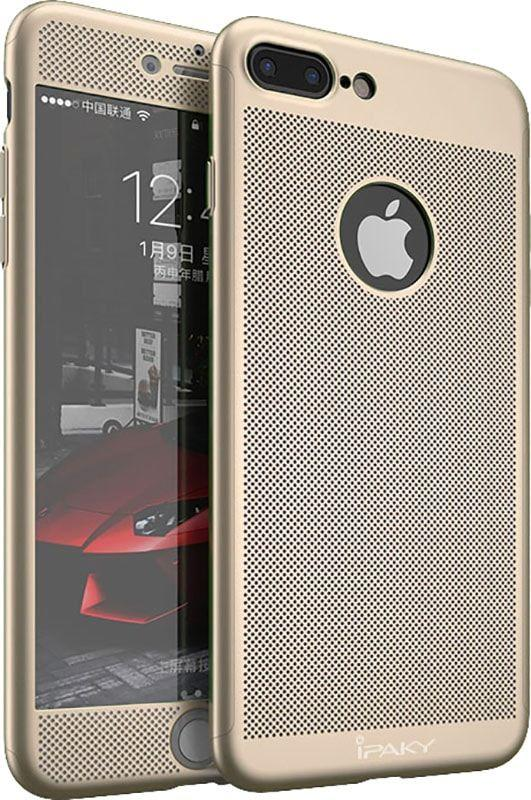 Чехол Ipaky 360 Mesh PC Heat Dissipation cover case 3в1 для iPhone 7 Plus Gold (х232х)