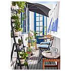 IKEA TARNO Садовый стол и 2 стула, черная Акация, сталь серо-коричневая (698.984.15), фото 2