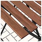 IKEA TARNO Садовый стол и 2 стула, черная Акация, сталь серо-коричневая (698.984.15), фото 4