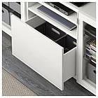 IKEA BESTA Тумба под телевизор, белый, Сельсвикен глянцевый/белый прозрачное стекло  (891.967.82), фото 3