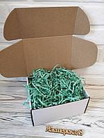 Коробка белая 205*205*125 мм для подарка с мятным наполнителем , для сувенира, для мыла, косметики