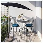 IKEA LACKO Садовый стол и 2 стула, серый  (498.984.35), фото 2