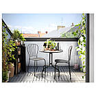 IKEA LACKO Садовый стол и 2 стула, серый  (498.984.35), фото 3