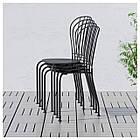 IKEA LACKO Садовый стол и 2 стула, серый  (498.984.35), фото 6