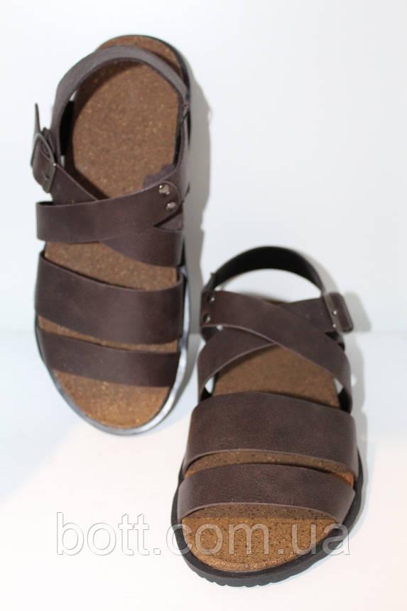 Босоножки для мужчин коричневые, фото 2