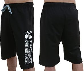 Спортивные шорты мужские летние трикотажные, черные