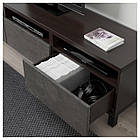 IKEA BESTA Тумба под телевизор с ящиками, черно-коричневый Каллвикен/Стуббарп, (892.764.58), фото 3