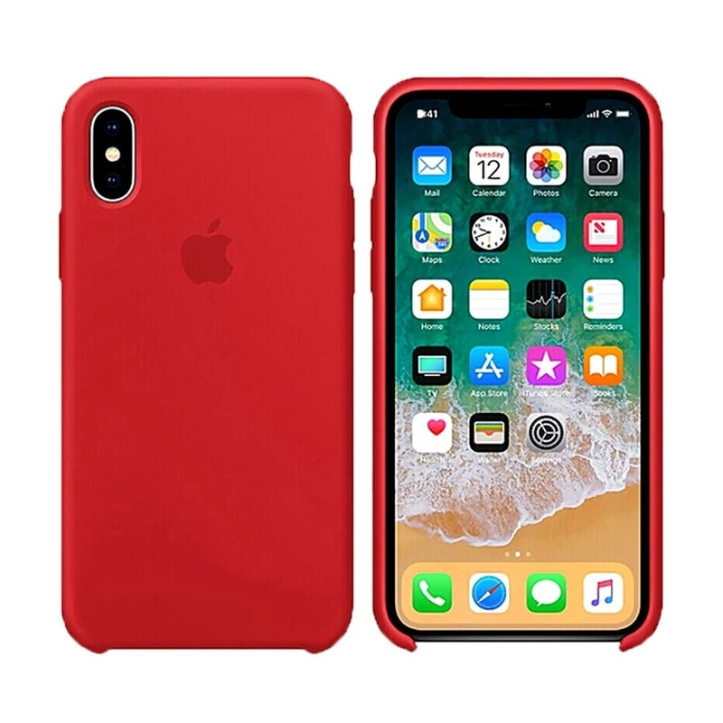 Чехол Silicone Case для Apple iPhone X Red (MB_723334050)