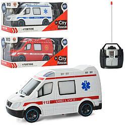 """Машинка на радиоуправлении """"Скорая помощь"""" (Белый цвет с красным)"""